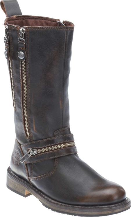 Harley-Davidson® Women's Sackett 10.75-In Leather Motorcycle Boots D83949  D83900