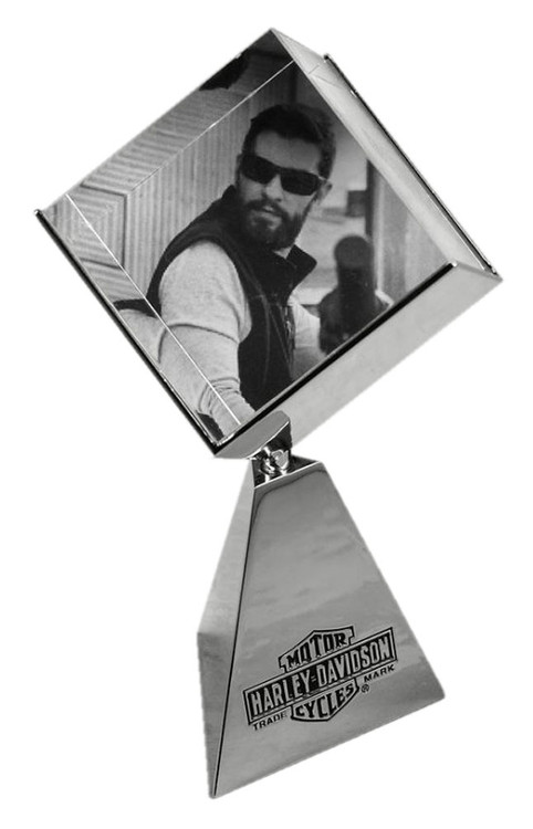 Harley-Davidson® Chrome-Plating Rotating Photo Cube, Three Photos 96823-17V
