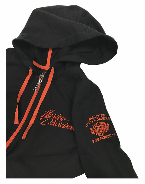 Harley-Davidson® Women's Moving Piston Embroidered Full-Zip Hoodie H665-HB82