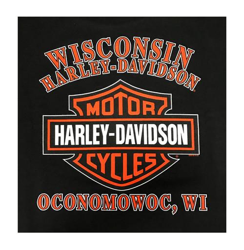 harley-davidson® men's lost pistons bar & shield hooded sweatshirt