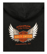 Harley-Davidson® Women's Hot For Power Full-Zip Fleece Hoodie, Black 5M38-HB48