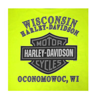 Harley-Davidson® Men's Chrome Attraction Short Sleeve Tee, Safety Green 5Q11-HE18