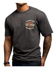 Harley-Davidson® Men's Chrome Halo B&S Short Sleeve T-Shirt, Charcoal 5504-HC3Q