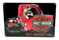 Harley-Davidson® Dogs Understand Embossed Tin Sign, 10.5 x 16.5 inches 2011241 - Wisconsin Harley-Davidson