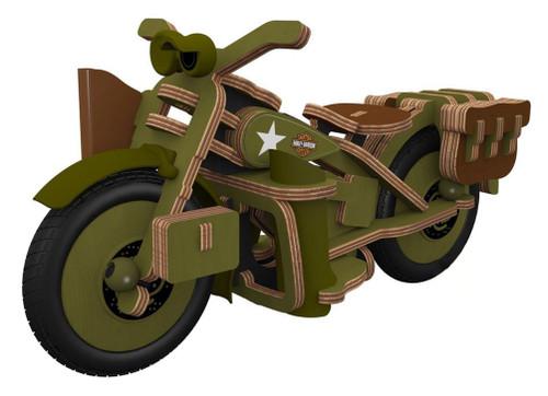 Harley-Davidson® Boy's Buildex Vintage Armed Forces Bike Construction Kit 20376 - Wisconsin Harley-Davidson