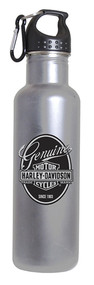 Harley-Davidson® Genuine Bar & Shield Aluminum Water Bottle, Silver HD-GEN-1766