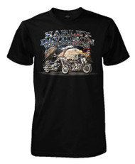 Harley-Davidson® Men's Allegiant Patriotic Short Sleeve T-Shirt, Solid Black