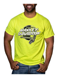 Harley-Davidson® Men's Ignite Chest Pocket Short Sleeve T-Shirt, Safety Green