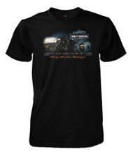 Harley-Davidson® Men's American Ride Short Sleeve Crew Neck T-Shirt, Solid Black