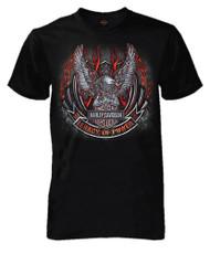Harley-Davidson® Men's Up-Wing Eagle Emblem Short Sleeve Tall T-Shirt, Black