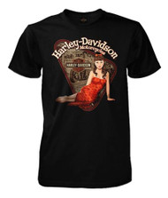 Harley-Davidson® Men's Classic Beauty Vintage Pinup Short Sleeve T-Shirt, Black