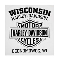 Harley-Davidson® Men's Vintage Whitewall Sleeveless Muscle Tee, Solid White