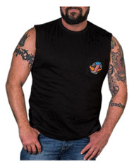 Harley-Davidson® Men's Legendary Strength Chest Pocket Sleeveless Tee, Black