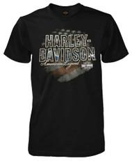 Harley-Davidson® Men's Brace Patriotic H-D Short Sleeve T-Shirt, Solid Black