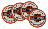 Harley-Davidson® Long Bar & Shield Neoprene Coaster Set, 4 Pack, 4 inch CS31216 - Wisconsin Harley-Davidson
