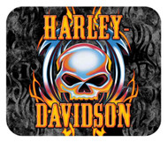 Harley-Davidson® Vicious Willie G Skull Tribal Mouse Pad, Thin Neoprene MO63999