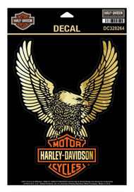 Harley-Davidson® Up-Wing Ultra Decal, Gold Finish Lg Size 6 x 7.875 in DC328264