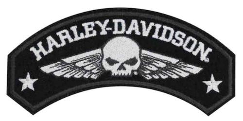 Harley-Davidson® Embroidered Military Wings Rocker Emblem, 5 x 2.25 inch EM044753 - Wisconsin Harley-Davidson
