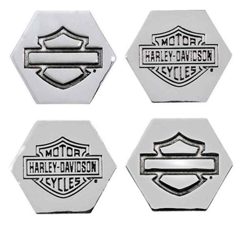 Harley-Davidson® Bar & Shield 3D Die Cast Magnet Set, Set of 4, Silver DM30206