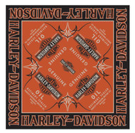 Harley-Davidson® Men's Genuine Oil Bar & Shield Bandana, 24 x 24 inch BA21264 - Wisconsin Harley-Davidson