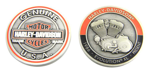 Harley-Davidson® Evolution XL Bar & Shield Challenge Coin, 1.75 in Coin 8007096