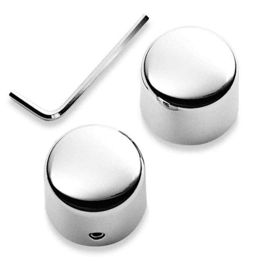 Harley-Davidson® Front Axle Nut Covers, Die-Cast Chrome Finish 44117-07A - Wisconsin Harley-Davidson