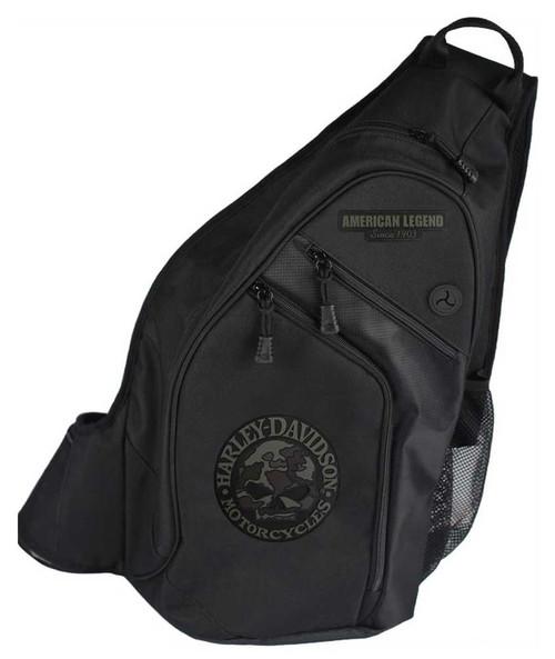 Harley-Davidson® 3D Willie G Skull Camo Sling Backpack, Black BP3561S-CAMBLK
