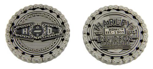 Harley-Davidson® Engraved Biker Chain H-D '03 Challenge Coin, 1.75 inch 8007201