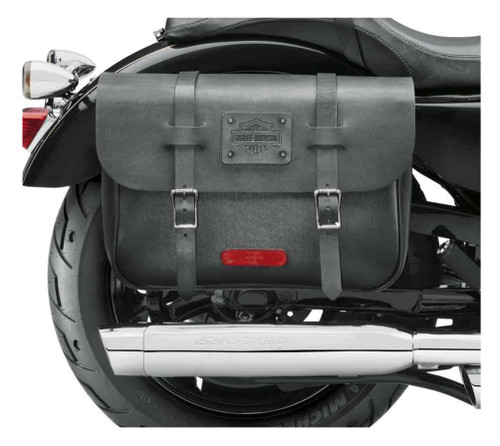 Harley-Davidson® Express Rider Large Capacity Leather Saddlebags, Black 90201325