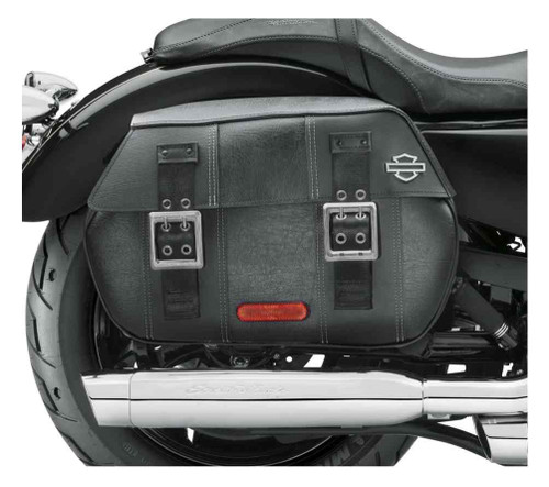 Harley-Davidson® Black Distressed Leather Saddlebags, Fits XL Models 90201306