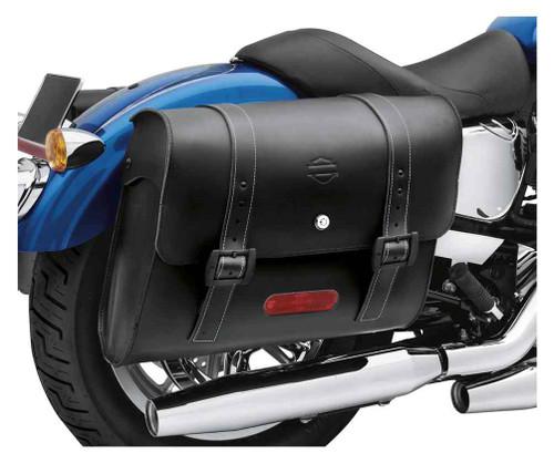 Harley-Davidson® Detachables Locking Leather Saddlebags, Black 90201328