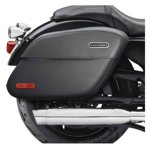 harley-davidson® rigid leather locking saddlebags, fits xl models