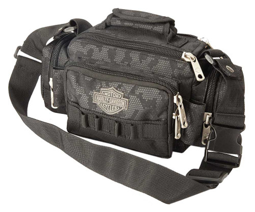"Harley-Davidson® ""Molle"" Night-Vision Sidekick Bag, Gray & Black 99403-NIGHT - Wisconsin Harley-Davidson"