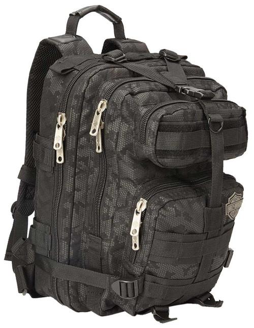 "Harley-Davidson® ""Molle"" Night-Vision Backpack, Gray & Black 99401-NIGHT - Wisconsin Harley-Davidson"
