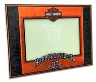 Harley-Davidson® Art-Glass Horizontal '03 H-D 4 x 6 Photo Frame, Black HD-HDS-245