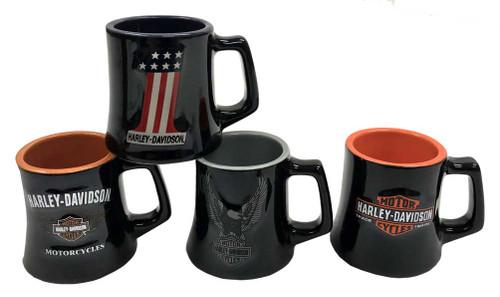 Harley-Davidson® Ceramic H-D Logos 2 oz. Mug Shot Glasses, 4 Pack Black HD-HD-922