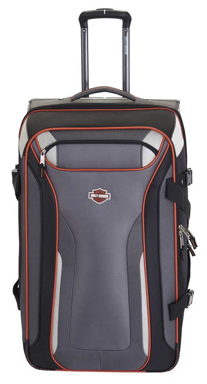 "Harley-Davidson® 25"" Thunder Road Pullman Wheeling Luggage, Gray/Black 99326-GB"