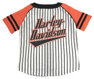 Harley-Davidson® Little Boys' Striped Raglan Baseball Jersey, White 1081715 - Wisconsin Harley-Davidson