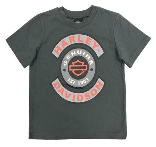 Harley-Davidson® Big Boys' Frayed Denim Blow-Out Shirt 2-Piece Set, Blue 1091705