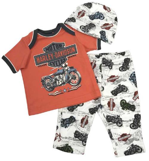 Harley-Davidson® Baby Boys' H-D 3 Piece Newborn Gift Set w/ Gift Bag 2551753 - Wisconsin Harley-Davidson