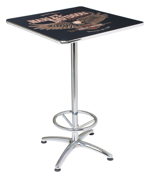 Etonnant Harley Davidson® Bar U0026 Shield Eagle Square Cafe Table, Durable U0026 Chrome  HDL 12327