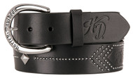 Harley-Davidson® Women's Native Star Studded Genuine Leather Belt HDWBT11250-BLK