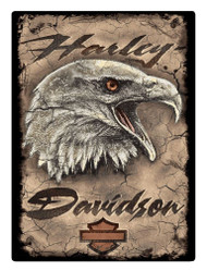 Harley-Davidson® Rugged Eagle Card Embossed Tin Sign, 12.5 x 17 inches 2011391 - Wisconsin Harley-Davidson
