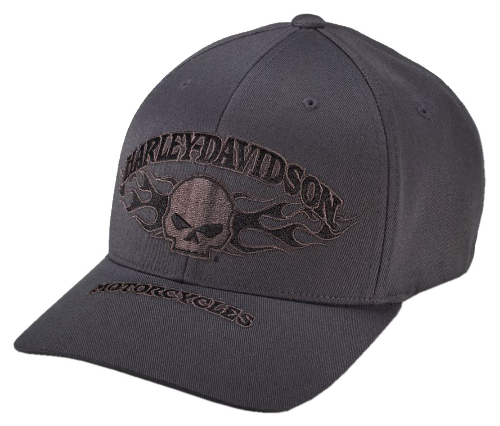 Harley davidson men 39 s willie g skull flexfit baseball cap for 99420