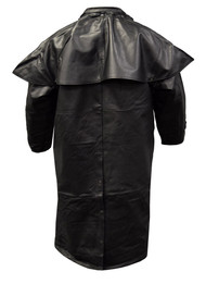 Redline Men's Classic Duster Premium Leather w/ Zip-Out Liner, Black M-DUSTER
