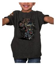 Harley-Davidson® Little Boys' Hog Wild Short Sleeve Toddler Tee, Smoke Gray