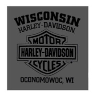 Harley-Davidson® Mens Finest B&S Short Sleeve Chest Pocket T-Shirt, Smoke Gray