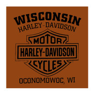 Harley-Davidson® Men's Traverse H-D Script Short Sleeve T-Shirt, Texas Orange
