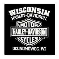 Harley-Davidson® Men's Commander Wing Bar & Shield Long Sleeve Shirt, Black