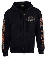 Harley-Davidson® Men's Vintage Bar & Shield Zip-Up Hooded Sweatshirt, Black